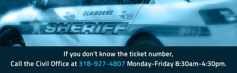 Claiborne Parish Sheriff's Office Online Ticket Payment